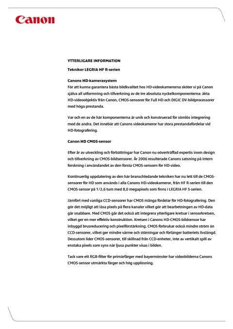 Teknikförklaring HF R-serien