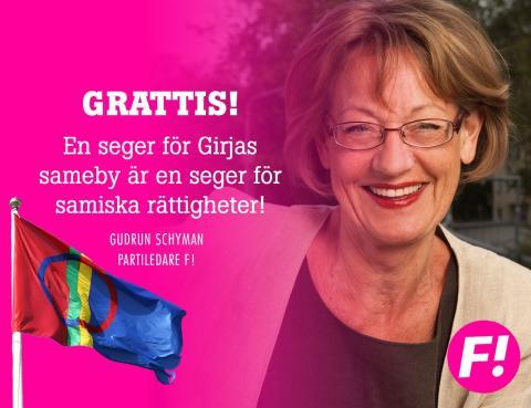 En seger för Girjas sameby är en seger för samiska rättigheter