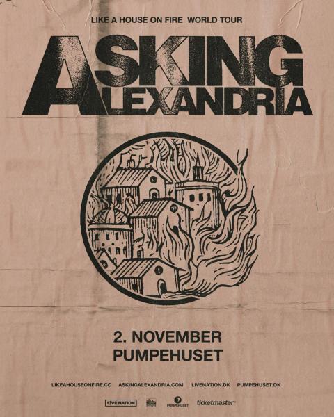 Det brititske metalcore-band Asking Alexandria kommer til