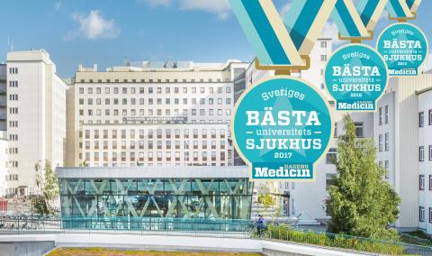 Norrlands universitetssjukhus bäst i landet. För tredje gången!