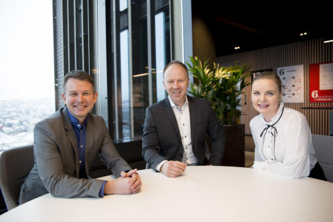 (Fra venstre) Sindre Strupstad Andreassen (36), Jørn Skaaraas (37) og Ingrid Didriksen Bergh (40)  er alle nominert til Årets unge leder av Assessit.