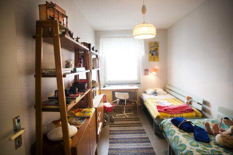 Museilägenhet Tensta, sovrum