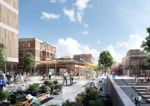 Arkitema tegner nyt område på tidligere lufthavnsområde