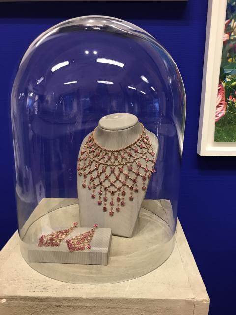 """La Nina"" ruby jewellery set"