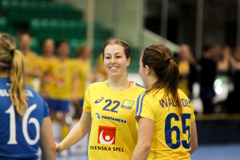 Jessica Lidberg gjorde sitt första VM-mål mot Slovakien.