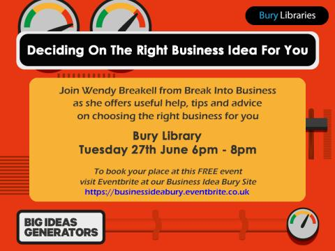 Big Ideas Generators: deciding on the right business idea for you