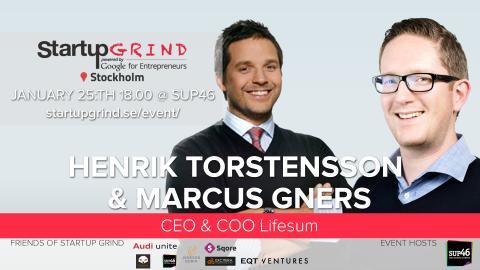 CEO & COO på Lifesum gästar Startup Grind Stockholm 25:e jan
