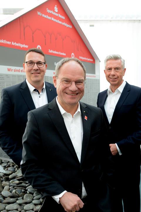 Vorstand SPK Neuss (v.l.): Carsten Proebster, Michael Schmuck, Dr. Volker Gärtner