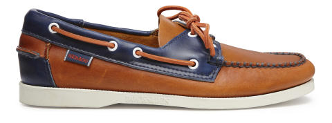 Sebago Horween Orange/Ink