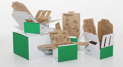 Ljusa idéer från DS Smith hjälper Schneider Electric att minska förpackningsavfallet