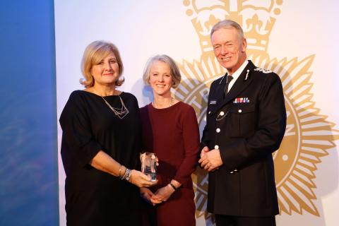 Total Victim Care - DC Lorraine Gronbach (left) with Deputy Mayor for Policing and Crime Sophie Linden (centre) and Commissioner