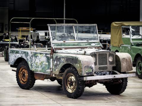 Restaurering av forsvunnet Land Rover starter jubileumsåret