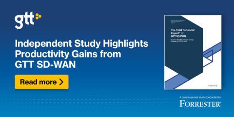 Oberoende studie visar på produktivitetsvinster med GTT SD-WAN