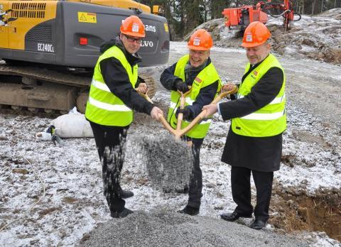 Första spadtaget till äldreboende i Liseberg