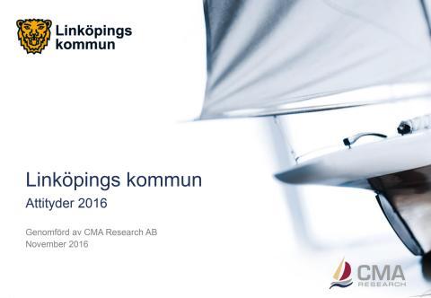 Linköpings kommuns attitydundersökning 2016