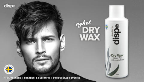 Idag lanseras svenska disp® Dry Wax - ett spraywax med matt finish!