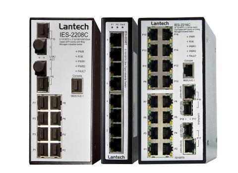 Lantech industriella ethernetswitchar