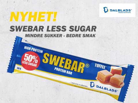 NYHET! SWEBAR less sugar