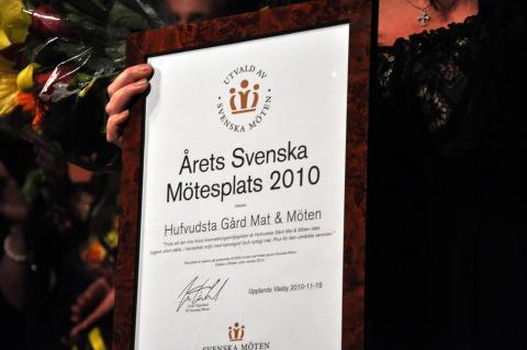 Hufvudsta Gård utsedd till Årets Mötesplats 2010