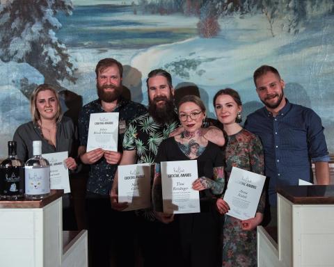 Sex vinnare redo att utmana Skuleskogen under Hernö Gin Cocktail Awards i augusti.
