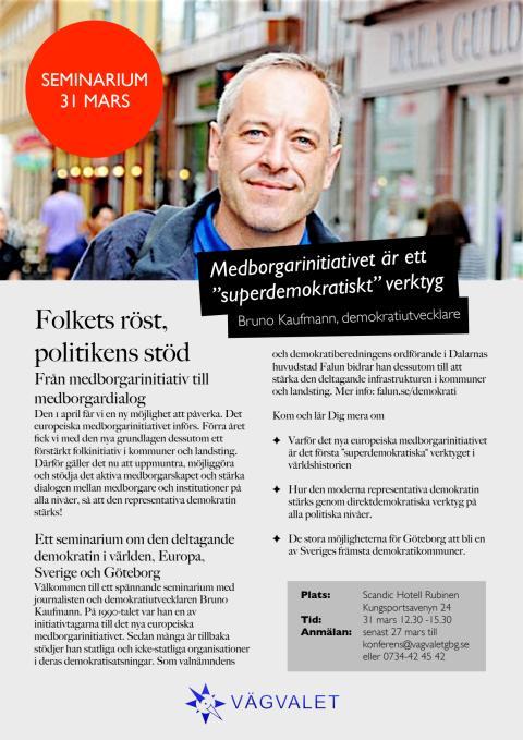 Inbjudan - Medborgarinitiativet  - Folkets röst, politikens stöd
