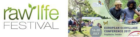 Sommarens två höjdpunkter för miljö- och hälsomedvetna: Europeiska ekobykonferensen på Ängsbacka och Raw Life Festival på Mundekulla