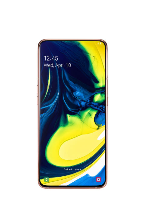 Galaxy A80_Angel_Gold_front