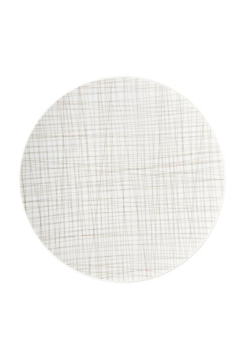 R_Mesh_Line Walnut_Plate 33 cm flat