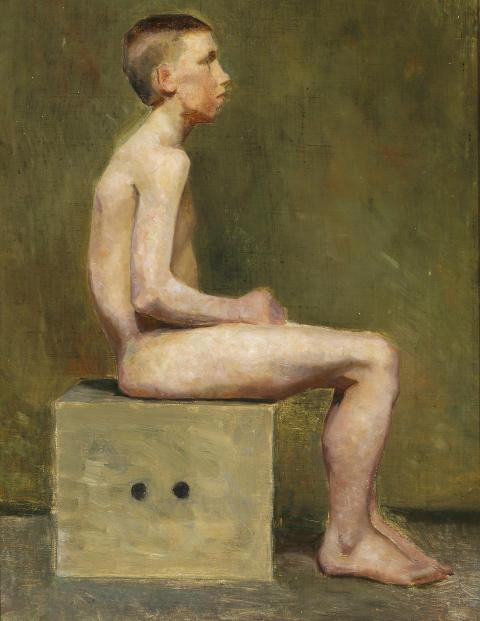 Marie Krøyer: Dreng på skammel.