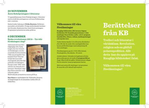 Berättelser från KB hösten 2017: pdf-folder