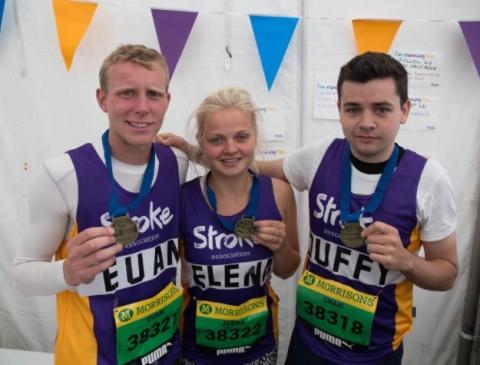 ​Tynemouth couple join Team Stroke at Paris Marathon