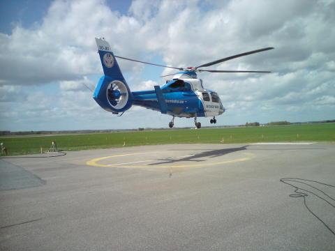 Helikopterplattan på Akademiska tillfälligt stängd