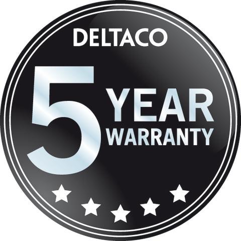 Nu gäller 5 års garanti på samtliga DELTACO-produkter!