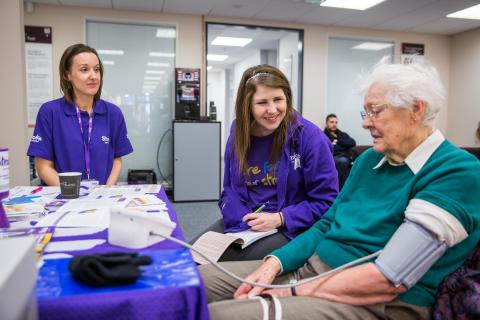 GP referral as Tunbridge Wells residents join Vision Express free blood pressure event