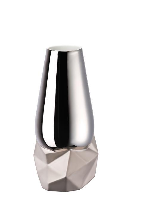 R_Geode_Vase 27 cm Platin titanisiert