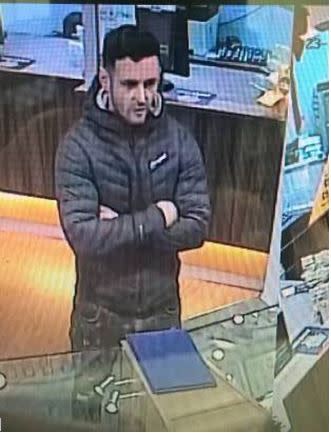Do you recognise this man? We would like to speak to him in connection with Eastleigh Rolex theft