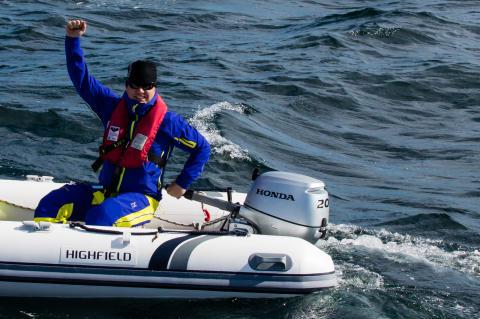 Ola Skinnarmo söker efter Vega med Honda ombord