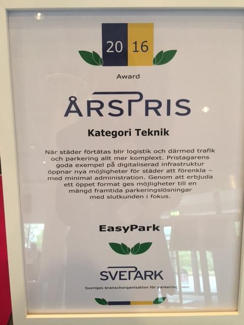 Motivering Sveparks årspris