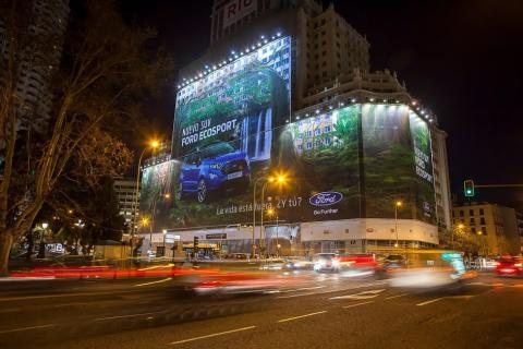 Verdens største billboard - Ecosport Madrid