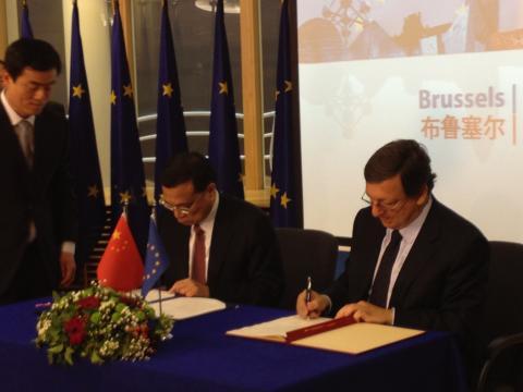 Malmö på plats när EU och Kina skrev under avtal om hållbar utveckling