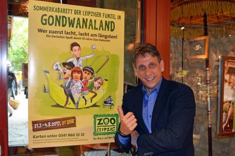 Thorsten Wolf, Direktor der Leipziger Funzel freut sich auf ein volles Haus zum Sommerkabarett im Zoo Leipzig