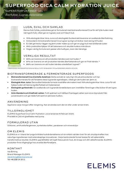 ELEMIS Cica Calm Hydration Juice
