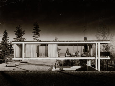 The Norwegian Glasshouse. Geir Grung, Own house at Jongskollen, 1963.