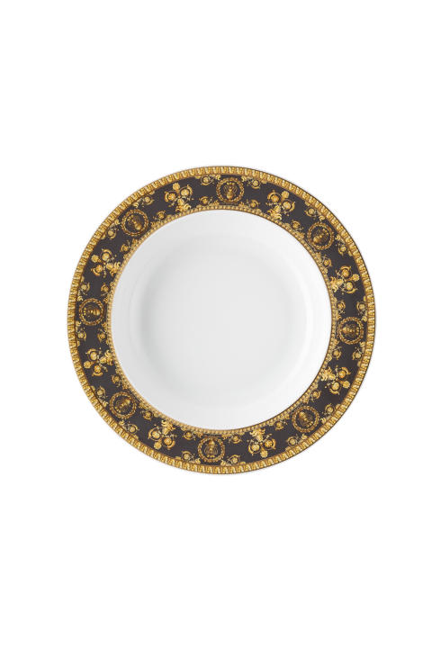 RmV_I love Baroque_Nero_Plate deep 22 cm