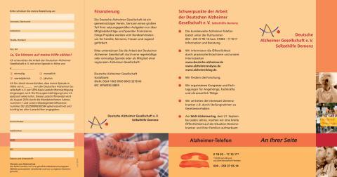 An Ihrer Seite - Selbstdarstellung der Deutschen Alzheimer Gesellschaft