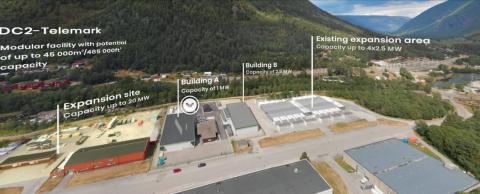 Green Mountain continue to expand at DC2 Telemark – Rjukan