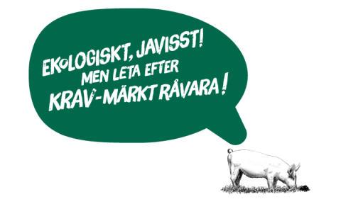 Ny etikett lyfter fram KRAV-märkt gris i ekologisk julskinka