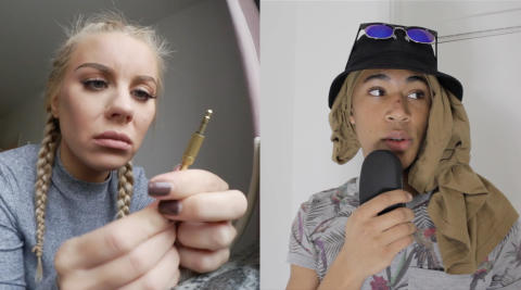 Therese Lindgren och Sam Nilsson Ezeh