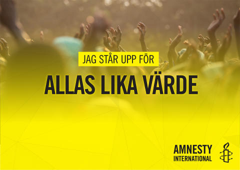 ​Amnesty deltar i Women´s March i Stockholm