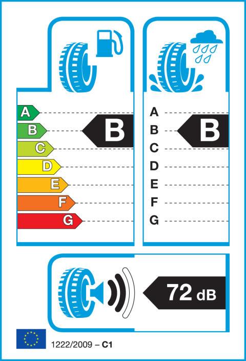 Energimärkningsetikett för däck
